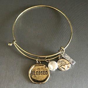 Jewelry - Blessed Charm Bangle Bracelet